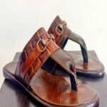 Croc Skin Slippers