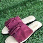 Slippers Tassle Velvet
